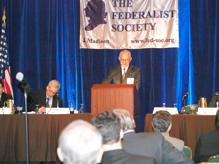 Speech at the Federalist Society