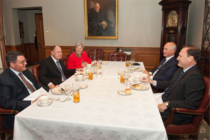 Lunch at the US Supreme Court with Justice Samuel Alito and ECJ Judge Jean-Claude Bonichot