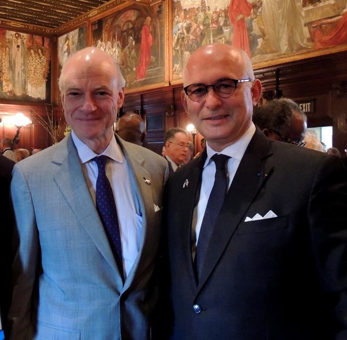 États-Unis : Avec William C. Hubbard,  Président de l'<em>American Bar Association</em>, Boston