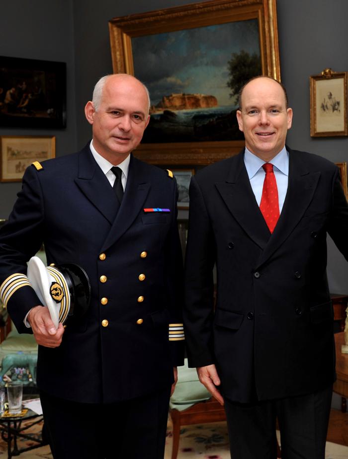 Avec le Prince Albert II de Monaco