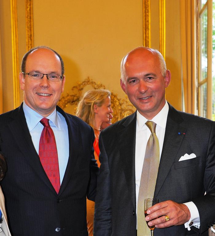 With Monaco Prince Albert II