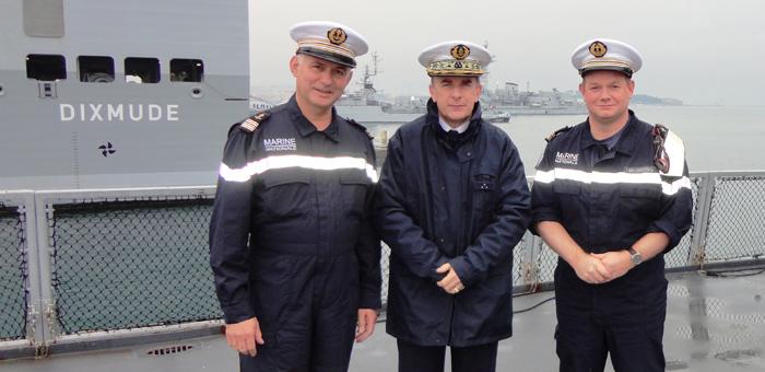 Défense : A bord du BPC Dixmud, avec l'Amiral Philippe Coindreau et le Capitaine de Frégate Yann Bied-Charreton