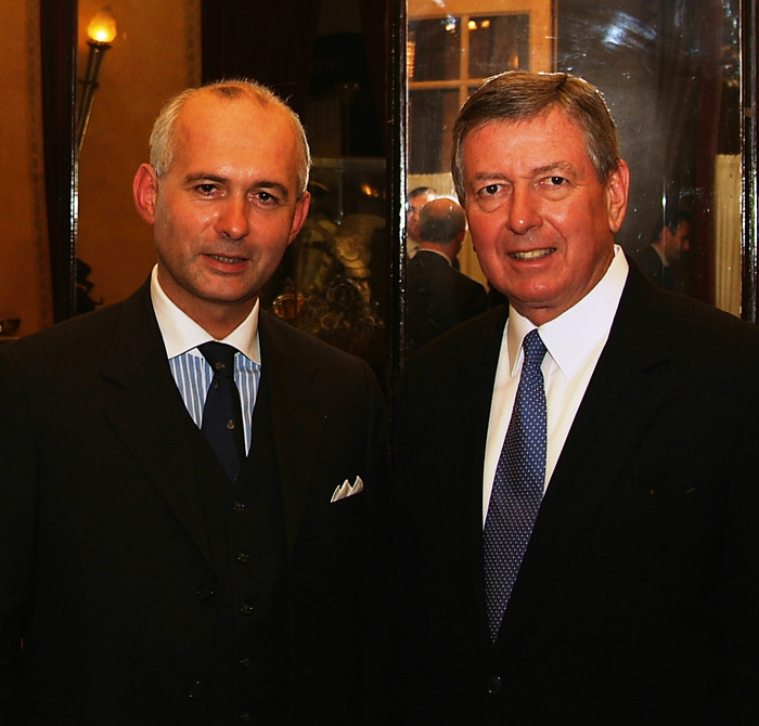 With John Ashcroft during a speech on anti-terrorism at the Vergennes Society, Paris