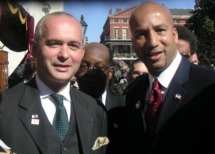 With the Mayor of New Orleans, Ray Nagin