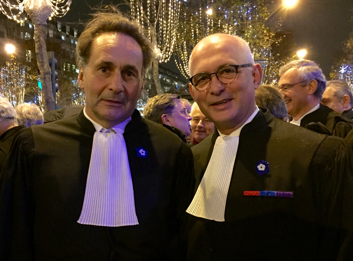 With the President of the Paris Bar, Pierre-Olivier Sur