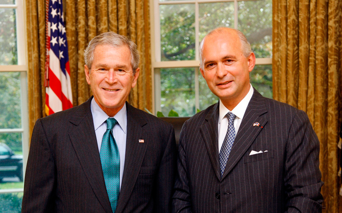 With President George W. Bush, Oval Office, White House