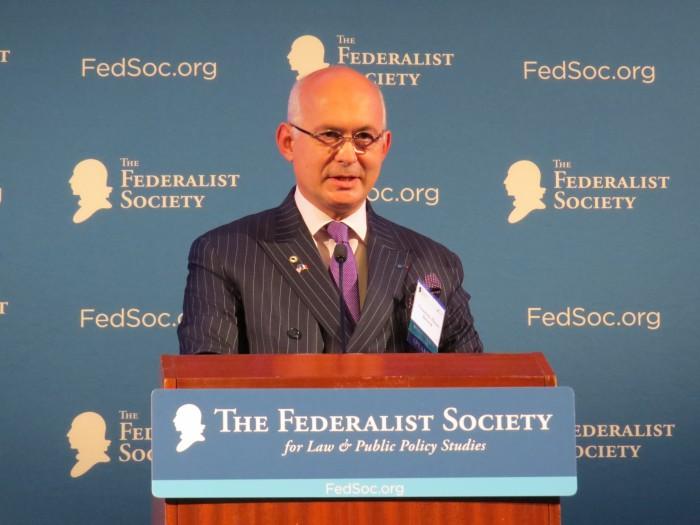 Une vision européenne de l'interventionnisme américain, discours de François-Henri BRIARD à WASHINGTON DC, novembre 2015