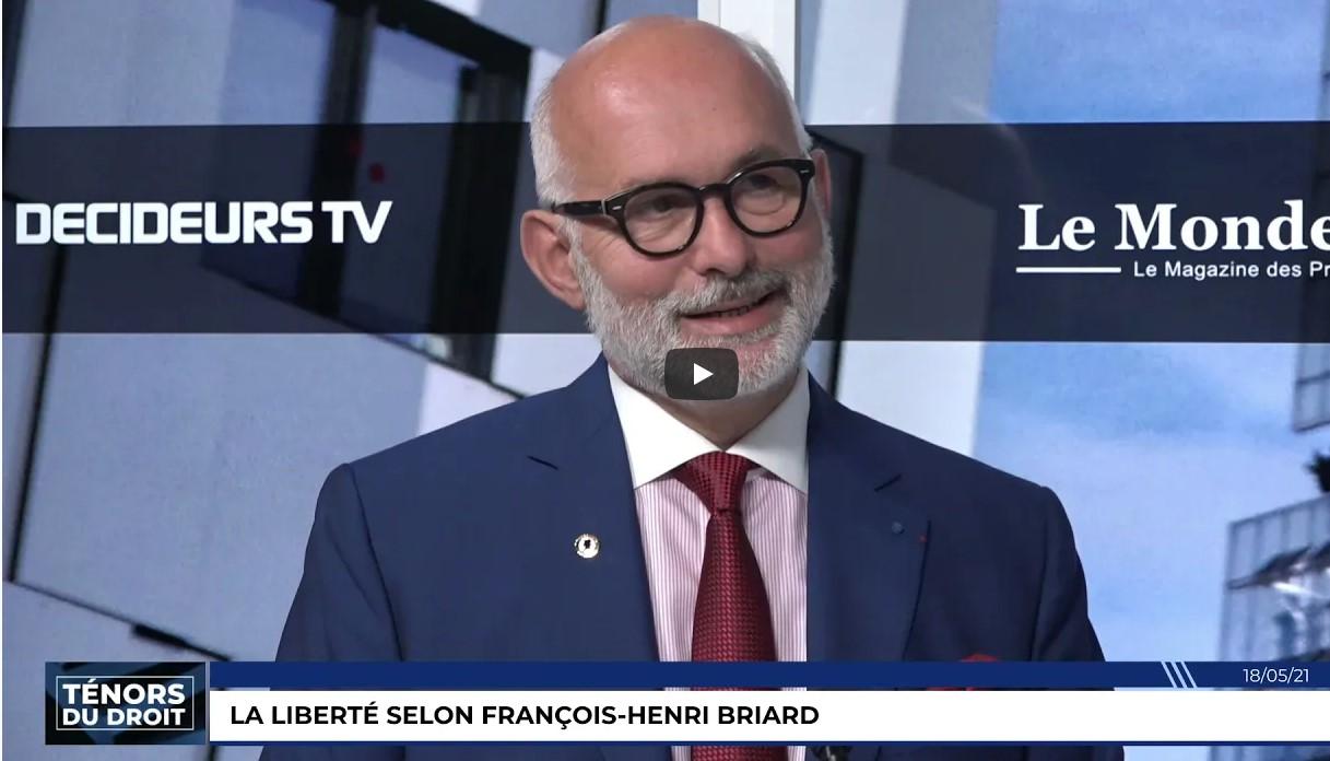 MAITRE BRIARD SUR DECIDEURS TV