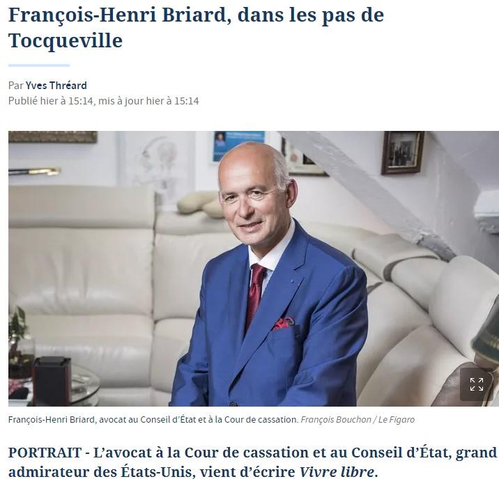 PORTRAIT DE MAITRE BRIARD DANS LE FIGARO