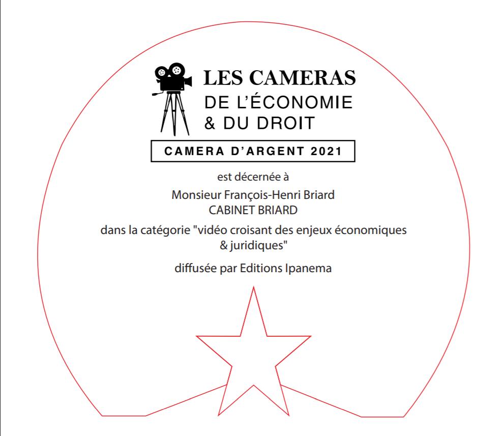 CAMERA D'ARGENT DE L'ECONOMIE ET DU DROIT POUR MAITRE BRIARD